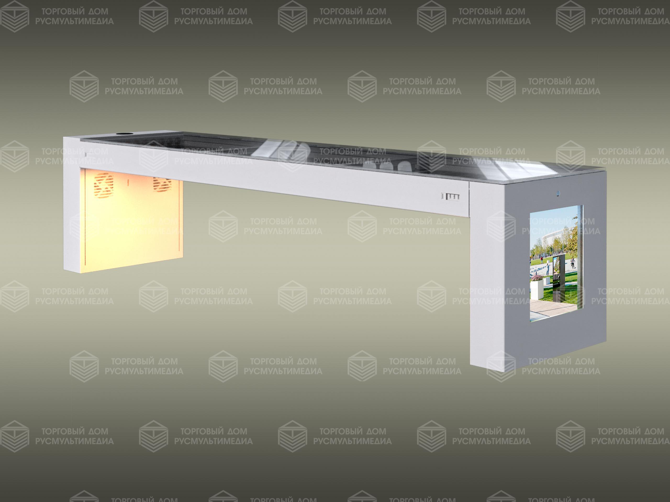 Умная скамейка - с солнечными панелями